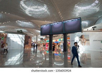 28 March 2019 Istanbul-Turkey: Istanbul new airport duty free stores