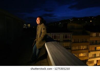 İstanbul,Turkey  / İstanbul - 28.12.2008 : Cinema  actor Engin Gunaydin poses for new film Vavien.