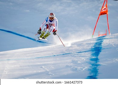 28/12/2019 Bormio, Italy. Audi FIS Ski World Cup. Men's Downhill. Urs Kryenbuehl, Switzerland, second in the race.