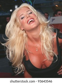 """28JUL98:  Playboy model VICTORIA SILVSTEDT at the premiere of """"BASEketball"""" at Universal Studios.  She stars in the movie with Jenny McCarthy, Yasmine Bleeth, Trey Parker & Matt Stone."""
