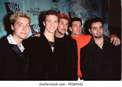 28OCT99:  Pop group 'NSYNC at The WB Radio Music Awards at the Mandalay Bay Resort & Casino, Las Vegas.  Paul Smith / Featureflash