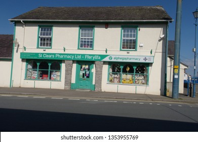 28th March 2019- The Pharmacy in the town center at St Clears, Carmarthenshire, Wales, UK.