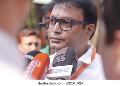 29 April 2017 Guwahati, Assam, India. Actor and Member of Legislative Assembly(MLA)  Jatin Bora during Bharatiya Janata Party(BJP) state executive meeting at Rang Mahal Auditorium, Maligaon, Guwahati.