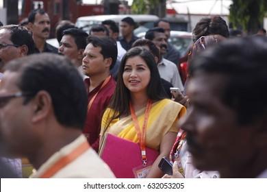 29 April 2017 Guwahati, Assam, India. Popular Assamese actress and MLA Angoorlata  during Bharatiya Janata Party(BJP)state executive meeting at Rang Mahal Auditorium,Maligaon,Guwahati.