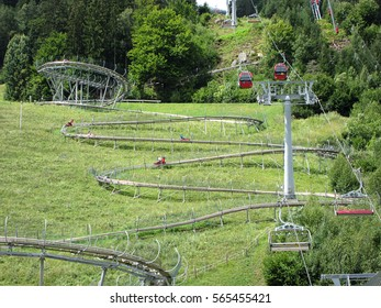 29 august 2016. Roller coaster, Lienzer Dolomites in Tyrol, Austria.