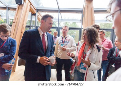 29 August 2017, RUSSIA, MOSCOW : Leader of the Russian opposition Alexei Navalny during the congress of headquarters of the presidential election campaign in Moscow, Russia.