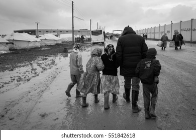 29 January 2014. Syria. Refugee camp near the village A'zaz 60 kilometers from Aleppo in Syria close the border with Turkey in Kilis.
