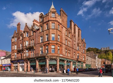 29 September 2015: Oban, Argyll and Bute, Scotland, UK - Chalmers Highland Tweed House on the seafront at Oban.