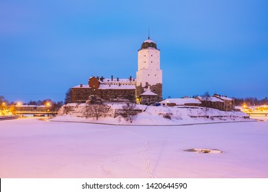 29.01.19 Russia. Vyborg. Winter view of the Vyborg Castle