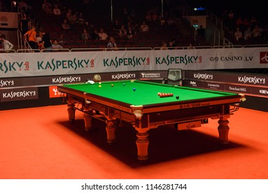 29.07.2018. RIGA, LATVIA. Kaspersky Riga Masters Lab Snooker Final between Jack Lisowski and Neil Robertson