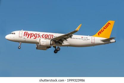 29-June-2021 Istanbul-Turkey: Pegasus Airbus A320 ISTANBUL to SKOPJE