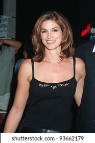 """29SEP97:  Supermodel CINDY CRAWFORD at the premiere of """"The Lovemaster"""" in Los Angeles. Crawford has a cameo role in the movie which stars Craig Shoemaker."""