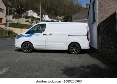 29th March 2020- A Ford Transit Custom 290 Trend E-Tec van parked in the town of Pendine, Carmarthenshire, Wales, UK.