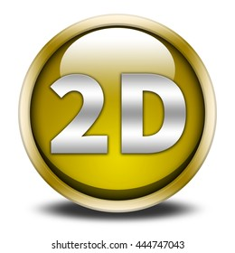 2d button isolated