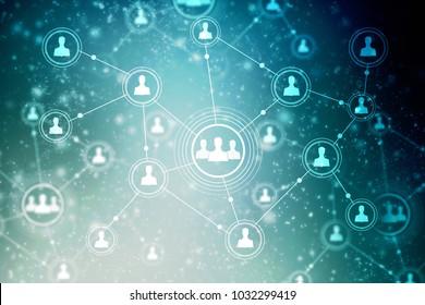 2d illustration Business Network