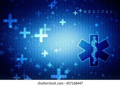 2d illustration Emergency ambulance medicine symbol