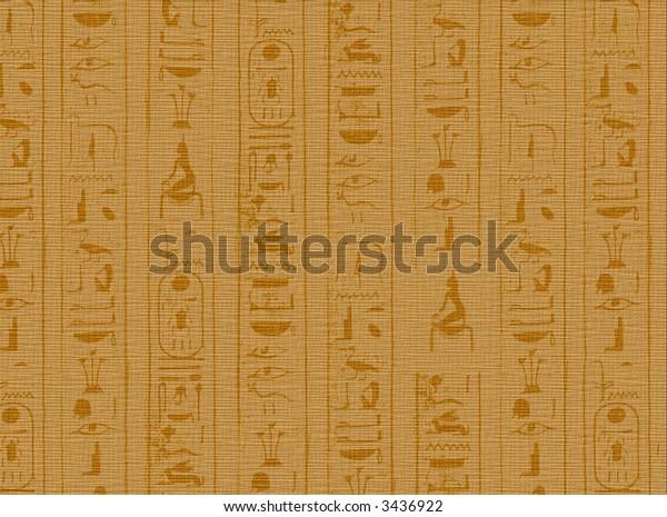 2D illustration of Hieroglyphic scripts