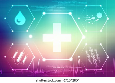 2d illustration Medical abstract background