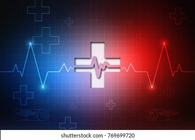 2D illustration medical structure background