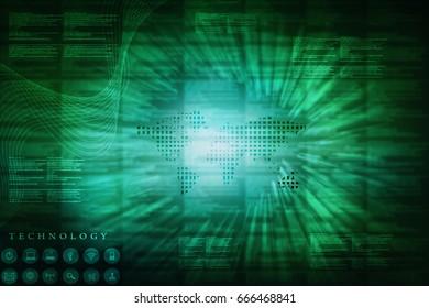 2d illustration technology background
