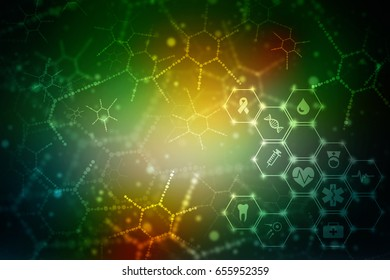 2D medical structure background