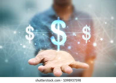2d rendering Dollar symbol