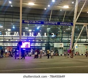 2nd Nov 2017 Trivandrum Kerala India, arrival terminal in Trivandrum international airport