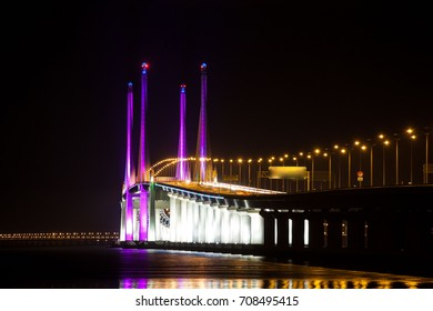 2nd Penang Bridge view during light up