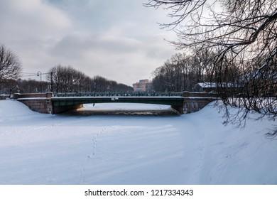 2nd sadovyiy bridge, Sankt-Peterburg, Russia