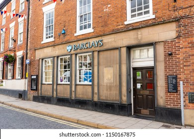 2nd-Aug-2018 - Ashbourne - Derbyshire - Barclays Bank in the high street in a quaint old fashioned English town