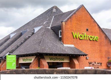 2nd-Aug-2018 - Ashbourne - Derbyshire - Up market supermarket retailer Waitrose in a beautiful English town of Ashbourne