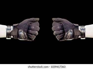 2Protective gloves separate from white Protective gloves