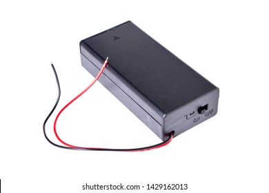 2x 18650 Battery Holder Connector Storage Case Box ON OFF Switch isolated on white background