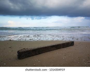 2x4 wood on the beach