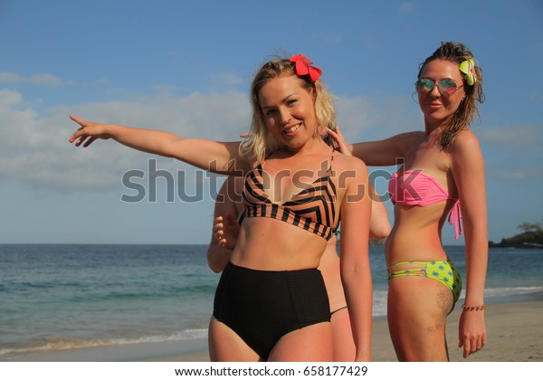 3 Beautiful Blonde Russian Models On Stock Photo Edit Now 658177429