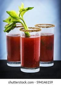 3 Caesar cocktails