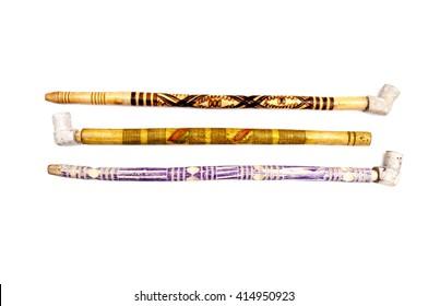 3 decorative tobacco  pipes