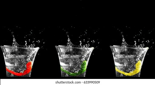 3 Drinking glasses
