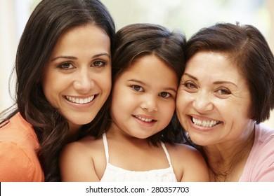 3 generations Hispanic women