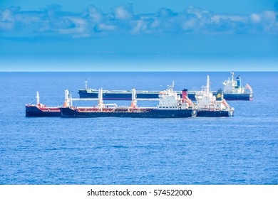 3 industrial ships transporting goods