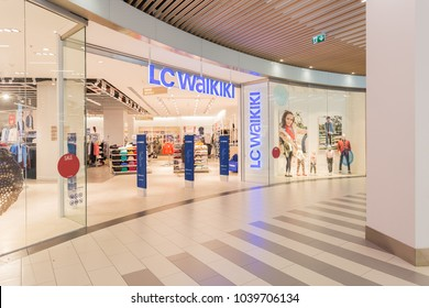 3 March 2017 - Bucharest, Romania - LC Waikiki store in Veranda mall near Obor market. LC Waikiki - the largest Turkish company retailer of children's and teen clothing. Editorial use only