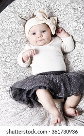 fe50176dd 3 Month Old Baby Lying Down Stock Photo (Edit Now) 361730966 ...