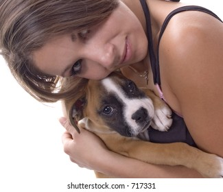3 month old boxer puppy mom stock photo edit now 717331 shutterstock