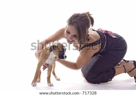 3 month old boxer puppy mom stock photo edit now 717328 shutterstock