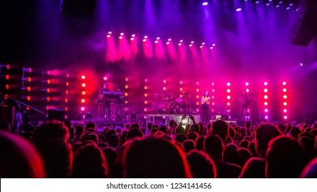 3 November 2018. TivoliVredenburg, Utrecht, the Netherlands. Concert of CHVRCHES