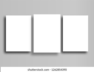 3 poster mockup on grey background, A3 size