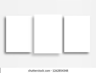 3 poster mockup on white background, A3 size