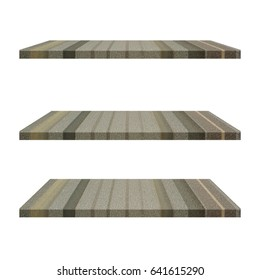 3 Steel iron Shelves Table isolated on white background