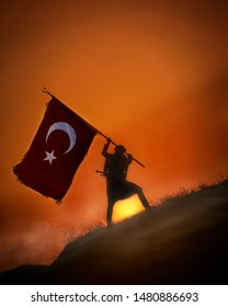 30 August Zafer Bayrami Victory Day Turkey. Translation: August 30 celebration of victory and the National Day in Turkey. (Turkish: 30 Agustos Zafer Bayrami Kutlu Olsun) Greeting card template.
