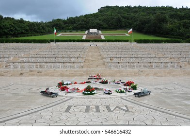 30 july 2014-montecassino-italy-The war cemetery of the city of montecassino